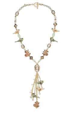 Single-Strand Necklace with Lampworked Glass Beads, Celestial Crystal® Beads and Copper-Plated Glass Beads - Fire Mountain Gems and Beads