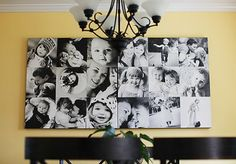 DIY Wall O' Canvas Photo Collage, I really want to do this! I need more pictures on my wall Canvas Collage, Wall Canvas, Wall Collage, Family Collage, Family Canvas, Family Pics, Diy Canvas, Canvas Art, Canvas Prints