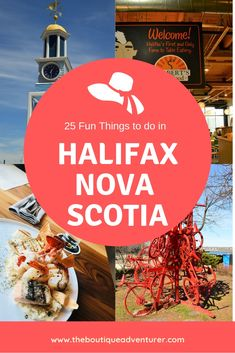 25 Fun Things to do in Halifax Nova Scotia I The Boutique Adventurer Travel Guides, Travel Tips, Travel Destinations, Halifax Waterfront, Nova Scotia Travel, Stuff To Do, Things To Do, Canadian Travel, Canadian Rockies