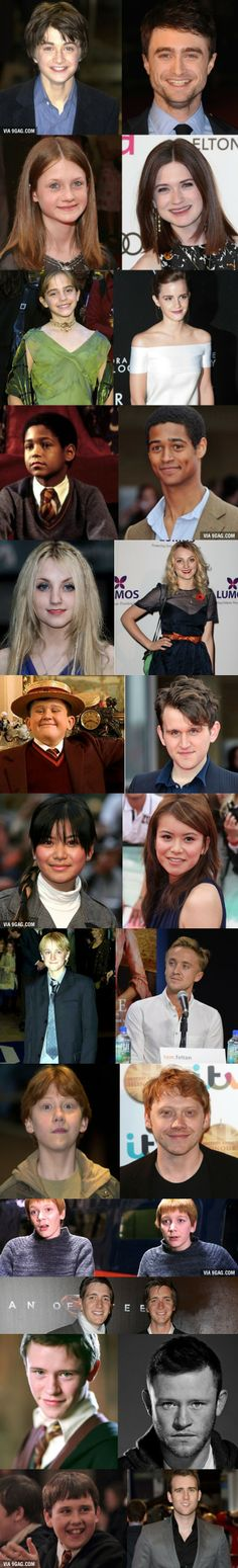"""""""Harry Potter"""" actors then and now...can we please talk about the fact that Dean Thomas is now a giraffe?"""