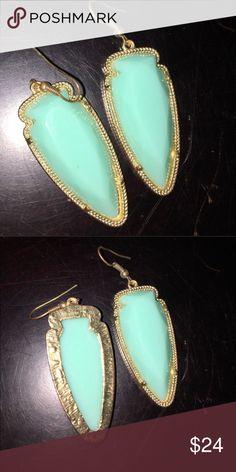 """Kendra Scott Skylar """"Style"""" Earrings Cute popular style light turquoise French wire earrings Jewelry Earrings"""