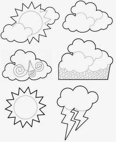 Coloring Sheets, Coloring Books, Coloring Pages, Seasons Activities, Activities For Kids, Weather For Kids, Kindergarten Anchor Charts, Weather Crafts, Quiet Book Templates