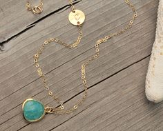 Long Initial NecklaceFine 14K Gold Filled by potionumber9 on Etsy, $44.00