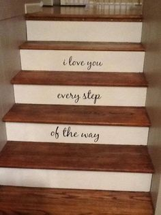Decorating with Decals: 10 Ways to Decorate Your Staircase With Uppercase Living Decals Home Design Diy, Custom Design, Be Kind To Yourself, Be Yourself Quotes, Book Spine, Favorite Movie Quotes, Have A Happy Day, Patterned Vinyl, Love You