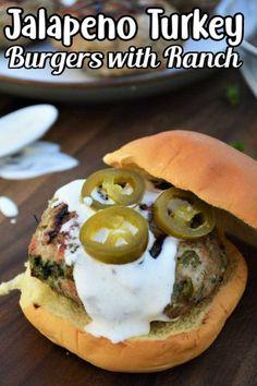 Turkey Burger Seasoning, Ground Turkey Seasoning, Grilled Burger Recipes, Best Burger Recipe, Turkey Burger Recipes, Jalapeno Recipes, Gourmet Burgers, Duck Recipes
