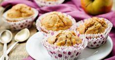 Recette de Muffins complets ultra diététiques aux pommes à la cannelle spécial petit déj détox. Facile et rapide à réaliser, goûteuse et diététique.