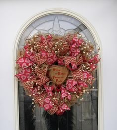 A personal favorite from my Etsy shop https://www.etsy.com/listing/217602089/primitive-mothers-day-wreath-burlap-mesh