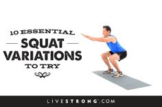 12 Essential Squat Variations to Try Without a doubt, squats are the best exercise to build lower-body strength and establish functional movement patterns. When done properly, they target your glutes, hamstrings and quads and incorporate core stability. Tthere's no exercise that will make you look as good from behind as squats will. If you don't vary the way you're doing them your body will adapt to that movement pattern & you'll stop seeing results. To prevent that, here are 11 squat…