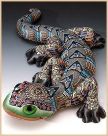 lizard by Jon Anderson, polymer clay art