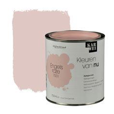 KARWEI Kleuren van Nu lak zijdeglans engelsroze 750 ml 900 Sq Ft House, Blush Pink Paint, Room Wall Painting, Bedroom Inspo, Label Design, Kids Bedroom, Kids Rooms, Room Colors, Apartment Living