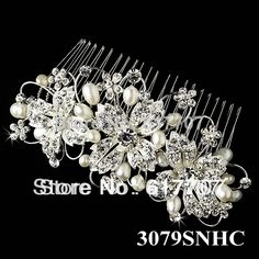 Free Shipping 2014 New Czech Rhinestone Crystal Pearl Bridal Hair Jewelry Hair Combs Hairpin Wedding Jewelry Accessoies 3079