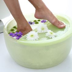 Pedicure bowl with foot rest... from Noel Asmar