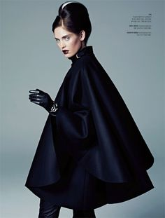 Black cherry pout. Heidi Mount Channels Daphne Guinness for S Magazine September 2012
