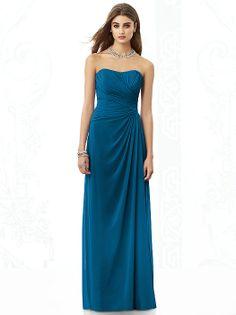 Dessy Ocean Blue bridesmaid dresses