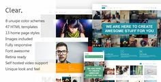 Clear - Professional HTML5 Creative Template