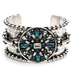 DANNIJO Lucius (300 CAD) ❤ liked on Polyvore featuring jewelry, bracelets, accessories, dannijo jewelry, dannijo, oxidized jewelry and swarovski crystal jewelry