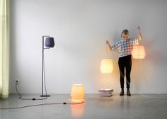 Note Design Studio wraps Elements lights in soft-hued fabric