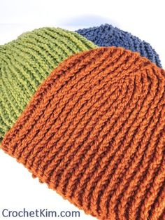 Favorite Beanie for Men | free crochet pattern | Tunisian | double ended | short rows | crochetkim