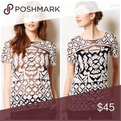 Everleigh Rococco Tee Gorgeous lace tee, bundle for discount Anthropologie Tops Blouses