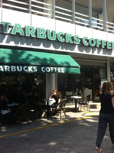 Starbucks: Head to the roof for an amazing view of the area!