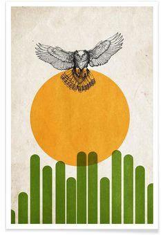 Wüstenvogel als Premium Poster von Kubistika | JUNIQE