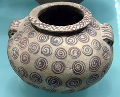 MOMA-Decorated ware jar with spiral design  Period: Predynastic, Naqada II Date: ca. 3650–3500 B.C. Geography: Egypt Medium: Pottery, paint