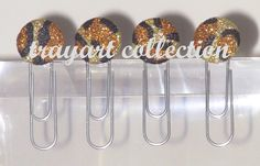 PAPER CLIPS / BOOKMARK Gold Bronze Leopard Print - Basic office classroom or houseware supplies. $6.50, via Etsy.