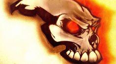 Skull airbrush / Рисунок черепа