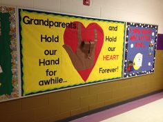 Grandparents day bulletin board idea