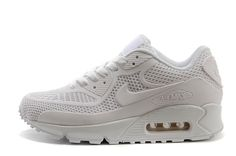 USD $68.00 Nike Air Max 90 KPU All White Mens Womens Athletic Running Shoes