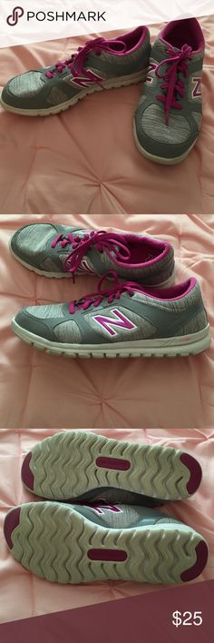 "New Balance 317 gray and hot pink Lifestyle NB sneaker with ""Cush"" soul. Worn but in GUC. New Balance Shoes Sneakers"