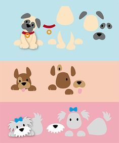70 Super Ideas for pattern art for kids paper Dog Pattern, Pattern Art, Puppy Crafts, Paper Punch Art, Marianne Design Cards, Dog Quilts, Felt Dogs, Theme Noel, Felt Patterns