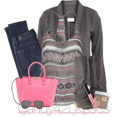 A fashion look from January 2014 featuring camisole tank top, gray blazer and super skinny jeans. Browse and shop related looks. Fall Outfits, Casual Outfits, Cute Outfits, Fashion Outfits, Womens Fashion, Passion For Fashion, Autumn Winter Fashion, Dress To Impress, Marie