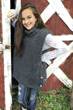 Check out this item in my Etsy shop https://www.etsy.com/listing/452622548/knit-girls-pull-over-vest-fits-average