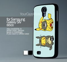 Totoro Pokemon, For Samsung s4 Hard Plastic Black | YourCazeMate - Accessories on ArtFire