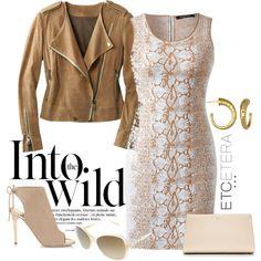 Etcetera | Spring 2015 - SLITHER dress and SADDLE leather jacket.