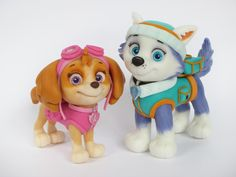Everest Paw Patrol, Paw Patrol Cake Toppers, Character Cakes, Fondant Figures, Polymer Clay Crafts, Movie Characters, Cartoon Kids, Smurfs, Celebrations