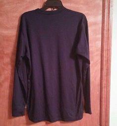 Large Patagonia Capilene 100% capilene polyester Navy Blue  long sleeve shirt