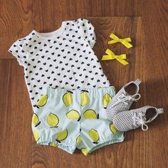 See this Instagram photo by @helloellie.shop   lemon shorts, baby bloomers, kids outfit