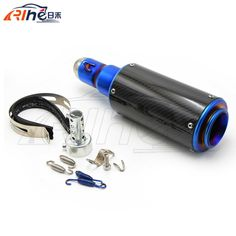 hot selling colorful style motorcycle accessories exhaust pipe carbon fiber motorbike muffler For HONDA CBR250 CBR400 CBR600