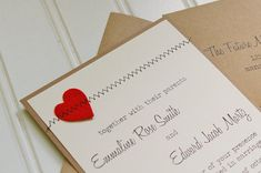 Such a fun combination of colors, textures, and fonts! These handmade rustic wedding invitations are the perfect way to invite your family and