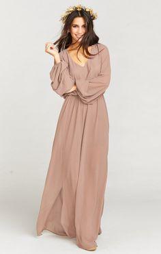 Jocelyn Maxi Dress ~ Dune Chiffon