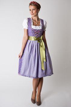 Trachten Dirndl Isabella, Midi, lilac