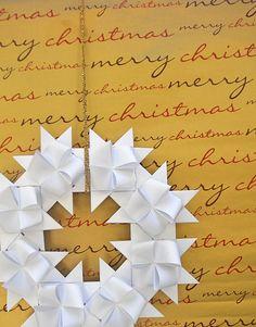 origami - corona de Navidad con German stars