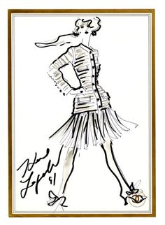 Original Sketch by Karl Lagerfeld by FIT Library Department of Special Collections, via Flickr