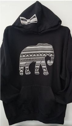 I discovered this Pullover Hoodie - Elephant Aztec Print Combo on Keep. View it now.