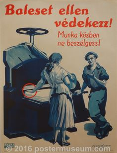 Guard Against Accidents! Safety Posters, East Germany, Illustrations And Posters, Health And Safety, The Past, History, Funny, Artwork, Movie Posters