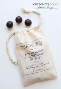 $2 custom favor bags. Yep they are not only the cutest, but they are the best price around.- Anne