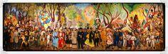 Sunday Midday's Alameda Dream... Sueño de una Tarde Dominical en la Alameda... Diego Rivera, 1947
