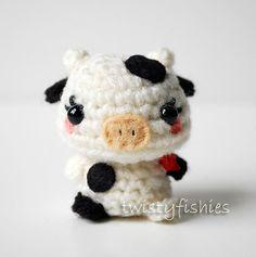 Baby Cow - Kawaii Mini Amigurumi Plush